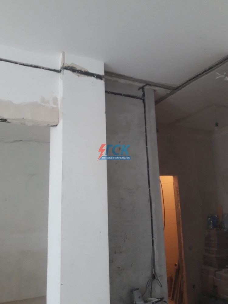 монтаж электропроводки в двухкомнатной квартире