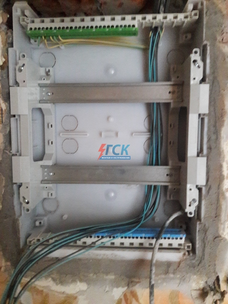 Поэтапный монтаж электрощита 24 модуля