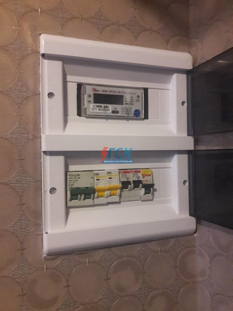 Поэтапный монтаж электрощита 12 модулей