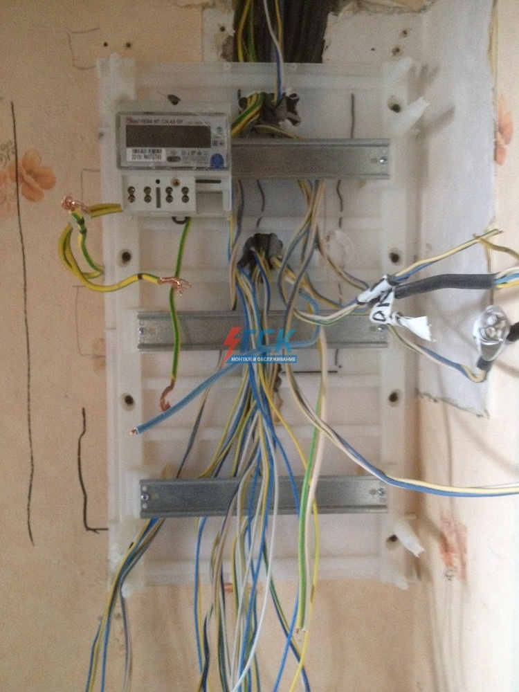Поэтапный сбор электрощита 36 модулей