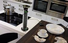 выдвижная розетка на кухню