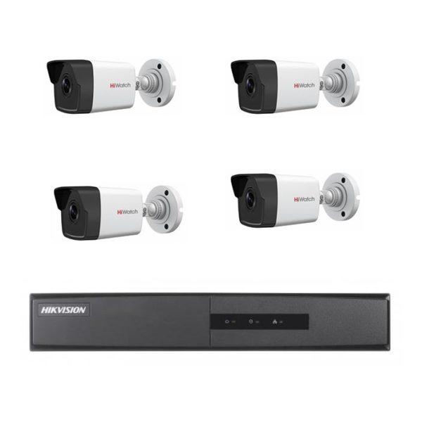 комплект видеонаблюдения на 4 камеры для частного дома