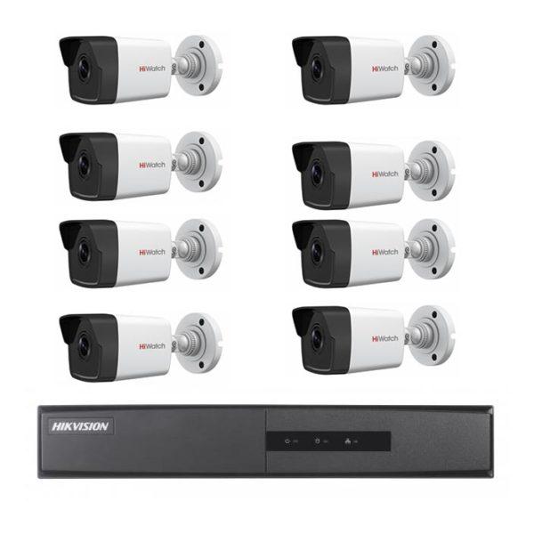 комплект наружного видеонаблюдения для частного дома