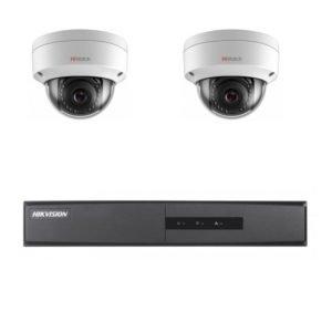 Комплект видеонаблюдения на 2 камеры для дачи