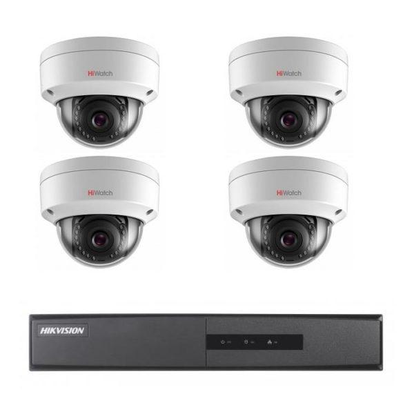 комплект видеонаблюдения на 4 камеры для дачи