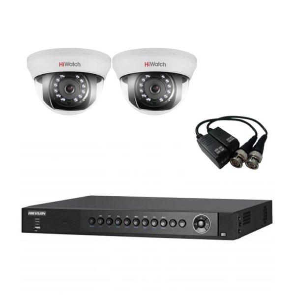 комплект видеонаблюдения на 2 камеры для квартиры