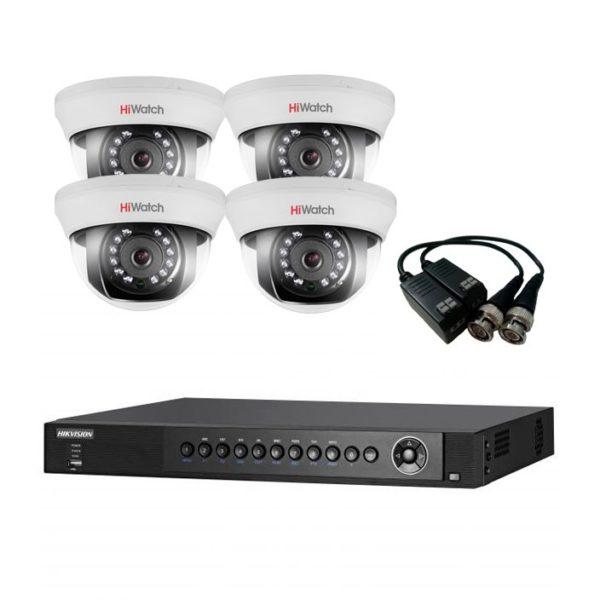 Комплект видеокамер DS-T101-4cam-DS-7204HQHI-F1