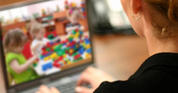 Установка видеонаблюдения в детском саду