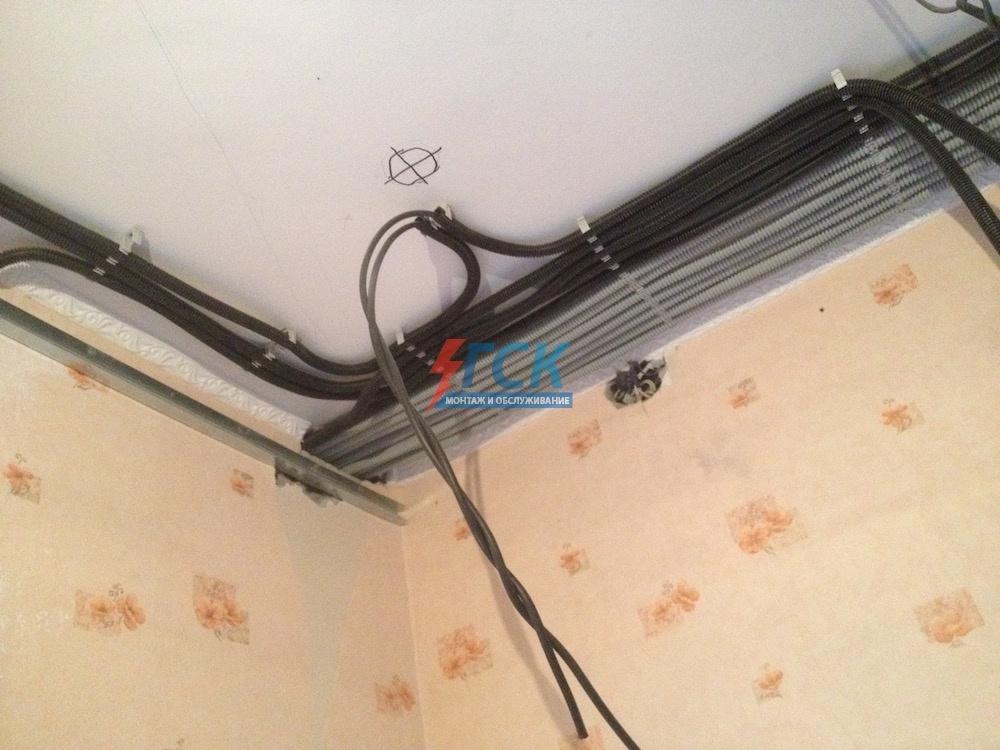 замена электропроводки студии