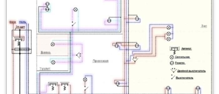Схема проектирвания электропроводки