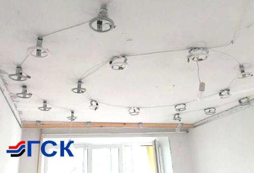 Монтаж и установка встраиваемого светильника в СПб и Ленобласти