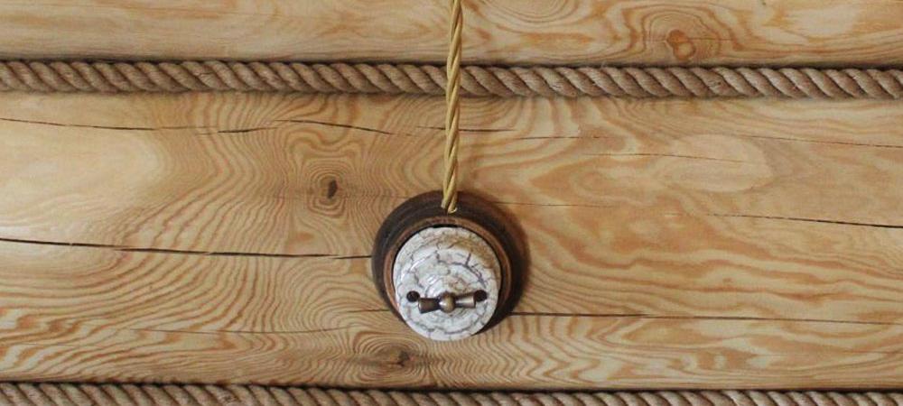 открытая разводка электрики в деревянном доме