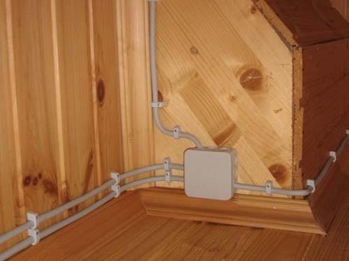 наружная разводка электрики в деревянном доме в спб