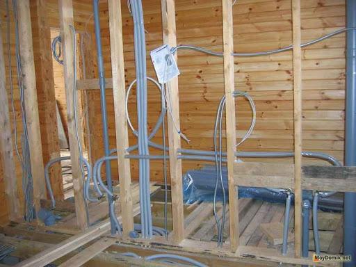 Монтаж скрытой электропроводки на даче