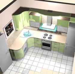 Перенос розеток на кухне 10 м