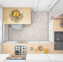 Перенос розеток на кухне 5м